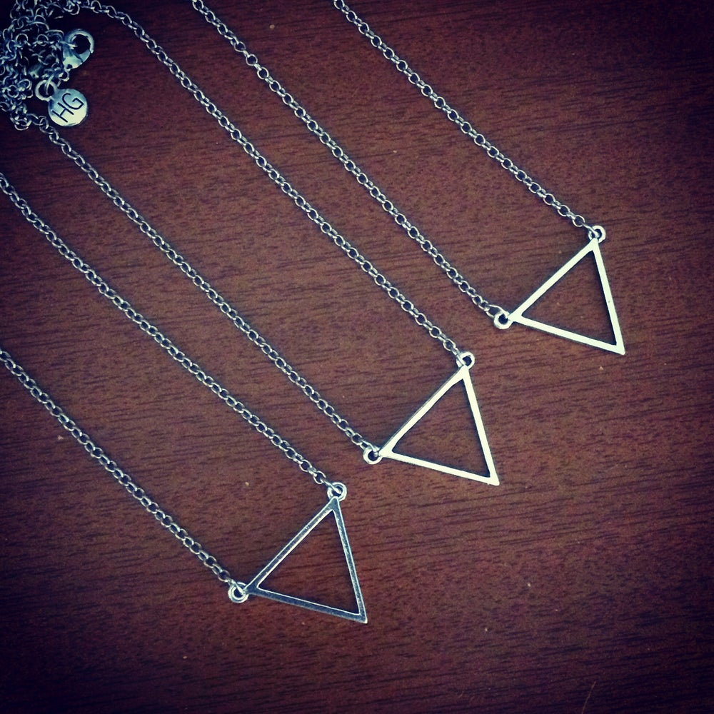 Image of Triangle drop necklace
