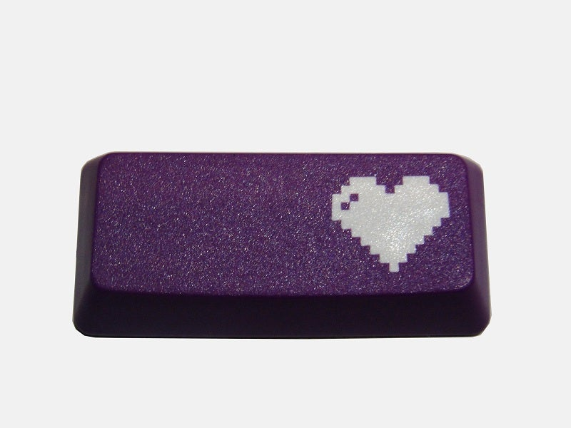 Image of 8-bit Heart Enter Keycap[Purple Edition]