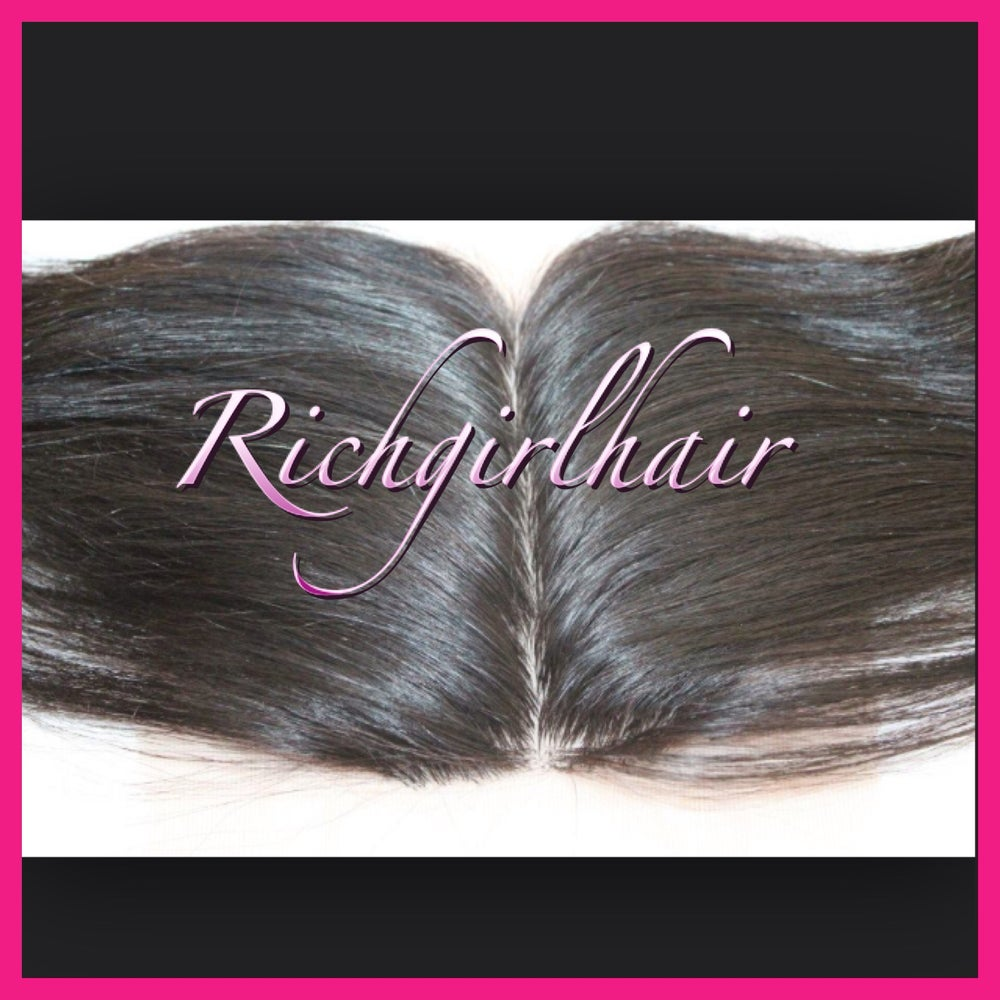 Image of Top Middle-Part Lace Closure- (straight , curly , bodywave, deepwave)