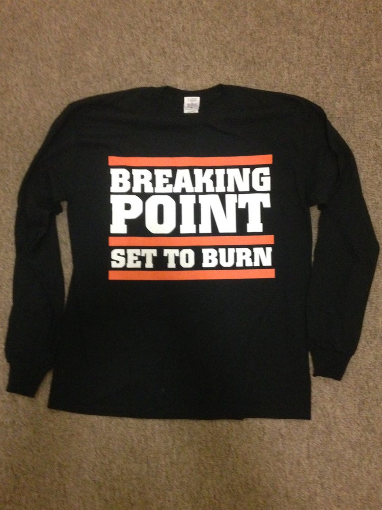 Image of SET TO BURN LONGSLEEVE - SMALL ONLY