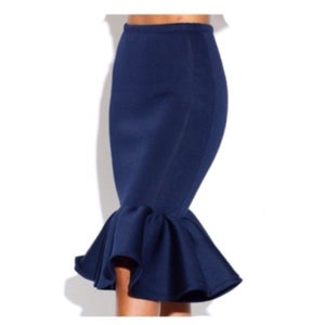 Image of Blue Fish Tail Skirt