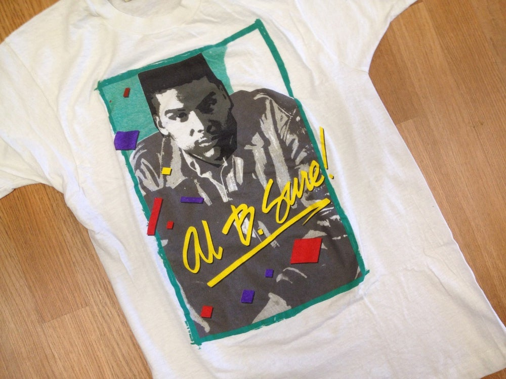 Image of Vintage Deadstock Al B. Sure 80'v R & B Screen Stars T Shirt