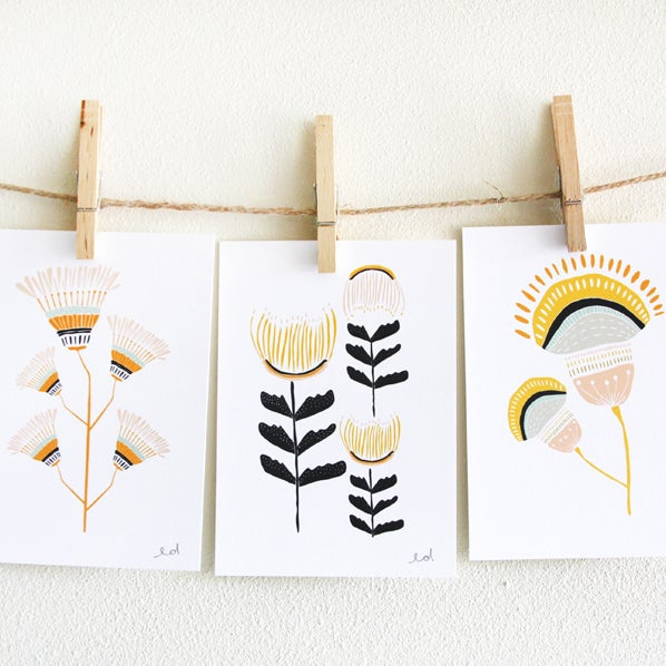 Desert Flowers Print Set