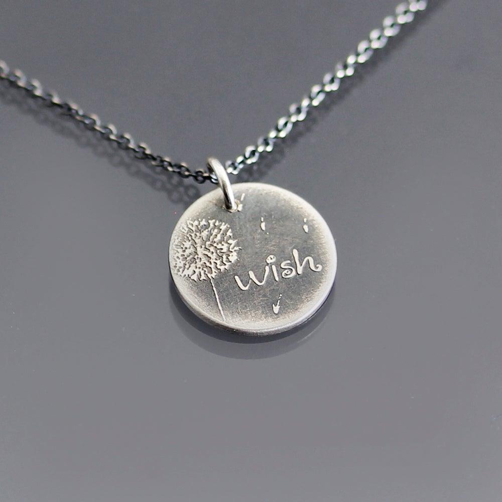 Image of Tiny Dandelion Wish Necklace
