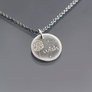 Image of Tiny Dandelion Wish Necklace