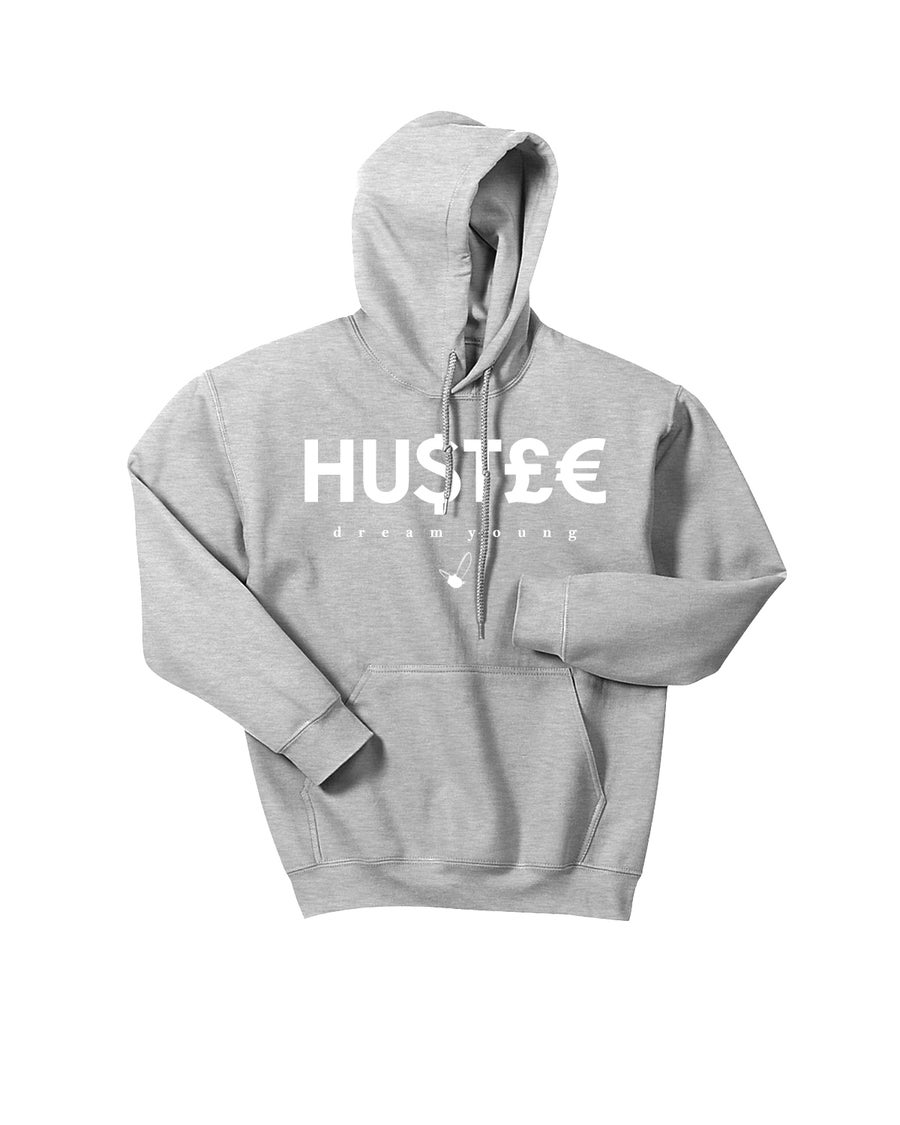 "Image of ""HU$T£€"" SPORTS GREY/HOODY"