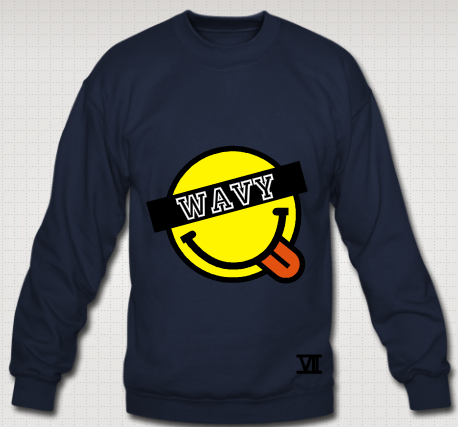 Smiley wavy sweater wavy outfitters for Create your own t shirt store online