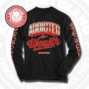 Image of Addicted to Wealth Blk (Action Red/Mint) Long Sleeve