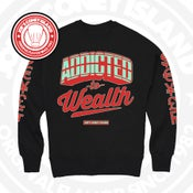 Image of Addicted to Wealth Blk (Action Red/Mint) Crewneck