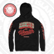 Image of Addicted to Wealth Blk (Action Red/Mint) Hoodie
