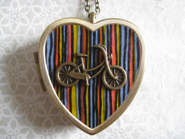 Image of Love My Bicycle - Mod Stripes