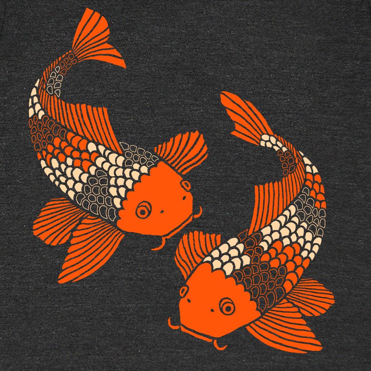 Gnome enterprises handprinted t shirts for men women for Koi fish store