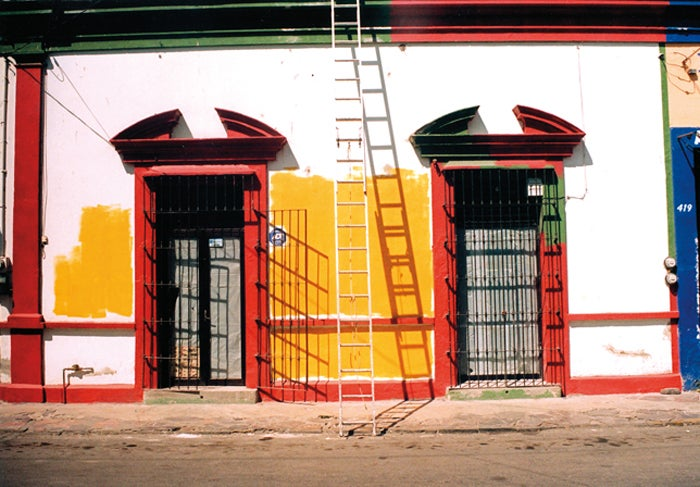 Image of a close look at the tall windows of mexico