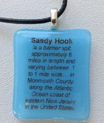 Image of Sandy Hook Pendant on Leather necklace