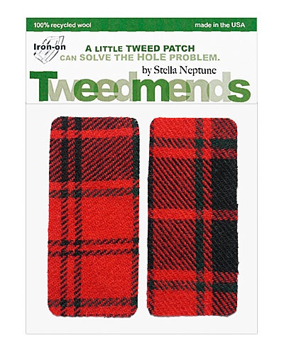 Image of Iron-On Wool Elbow Patches -Hunter's Plaid - Limited Edition!