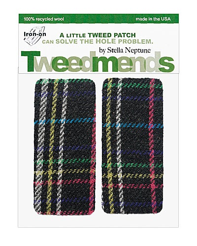 Image of Iron-On Wool Elbow Patches - 80's Plaid - Limited Edition!