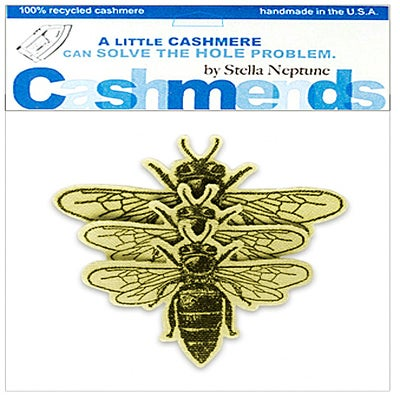 Image of Iron-On Cashmere Bees - Yellow