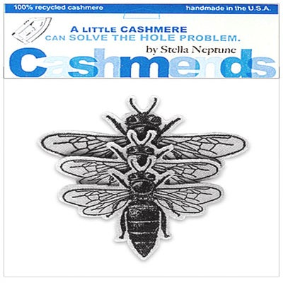 Image of Iron-On Cashmere Bees - Light Grey