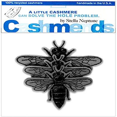 Image of Iron-On Cashmere Bees - Dark Grey