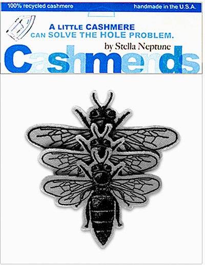 Image of Iron-On Cashmere Bees - Medium Grey