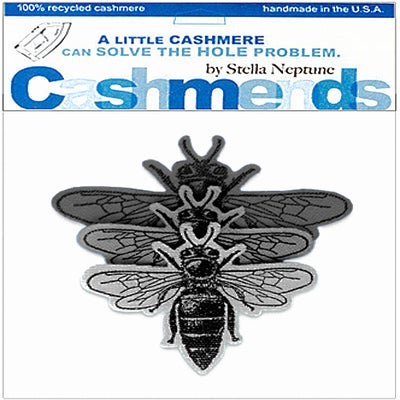 Image of Iron-On Cashmere Bees - Triple Grey
