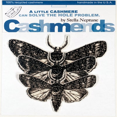 Image of Iron-on Cashmere Moths - Cream