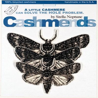 Image of Iron-on Cashmere Moths - Cream