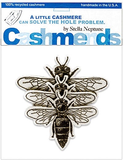Image of Iron-On Cashmere Bees - Cream
