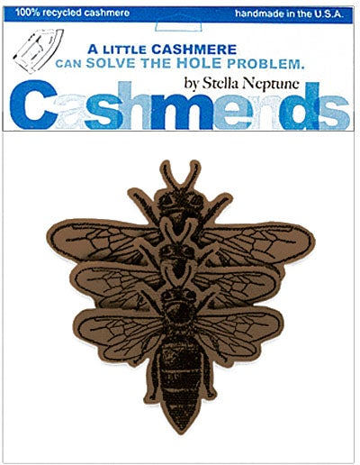 Image of Iron-On Cashmere Bees - Brown