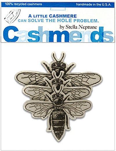 Image of Iron-On Cashmere Bees -Pale Beige