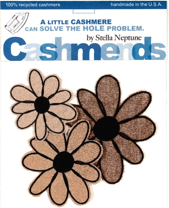Image of Iron-on Cashmere Flowers - Triple Beige