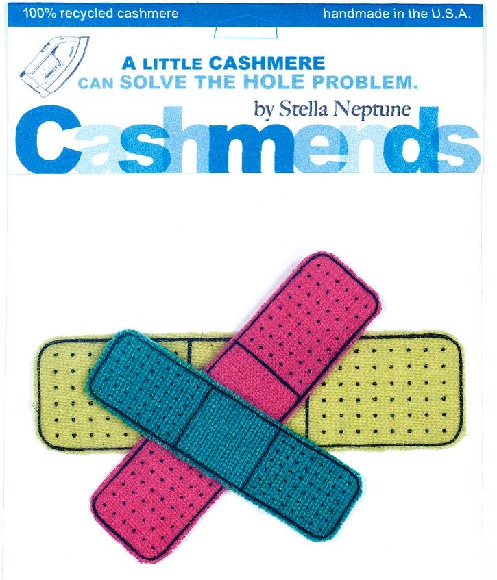 Image of Iron-on Cashmere Band-Aids - Bright Colors