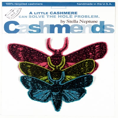 Image of Iron-on Cashmere Moths - Bright Combination