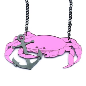 Image of Crab and Anchor Necklace