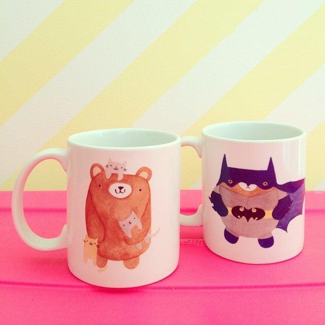 Image of bear art mugs