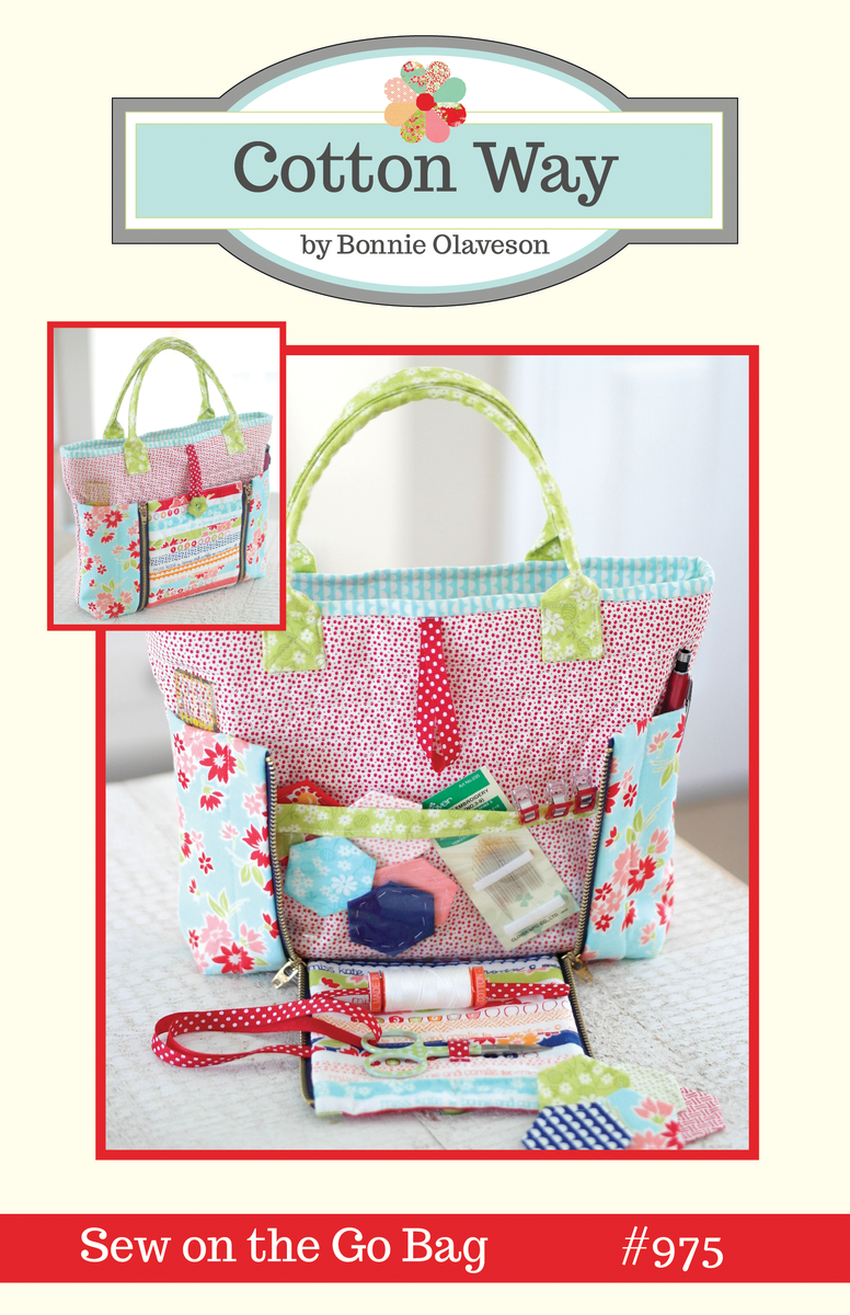 Cotton Way Sew On The Go Bag Paper Pattern 975
