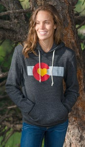 Image of Colorado Love Pullover Hoodie-Unisex Charcoal
