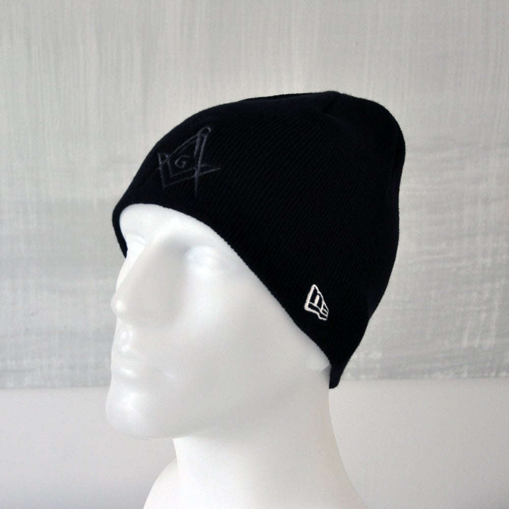 Image of Black knitted beanie