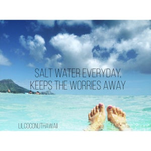 Image of Salt Water Everyday, Keeps the Worries Away Clutch