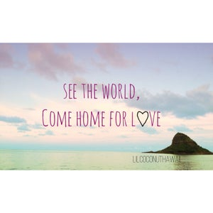 Image of See the World, Come Home for Love Clutch