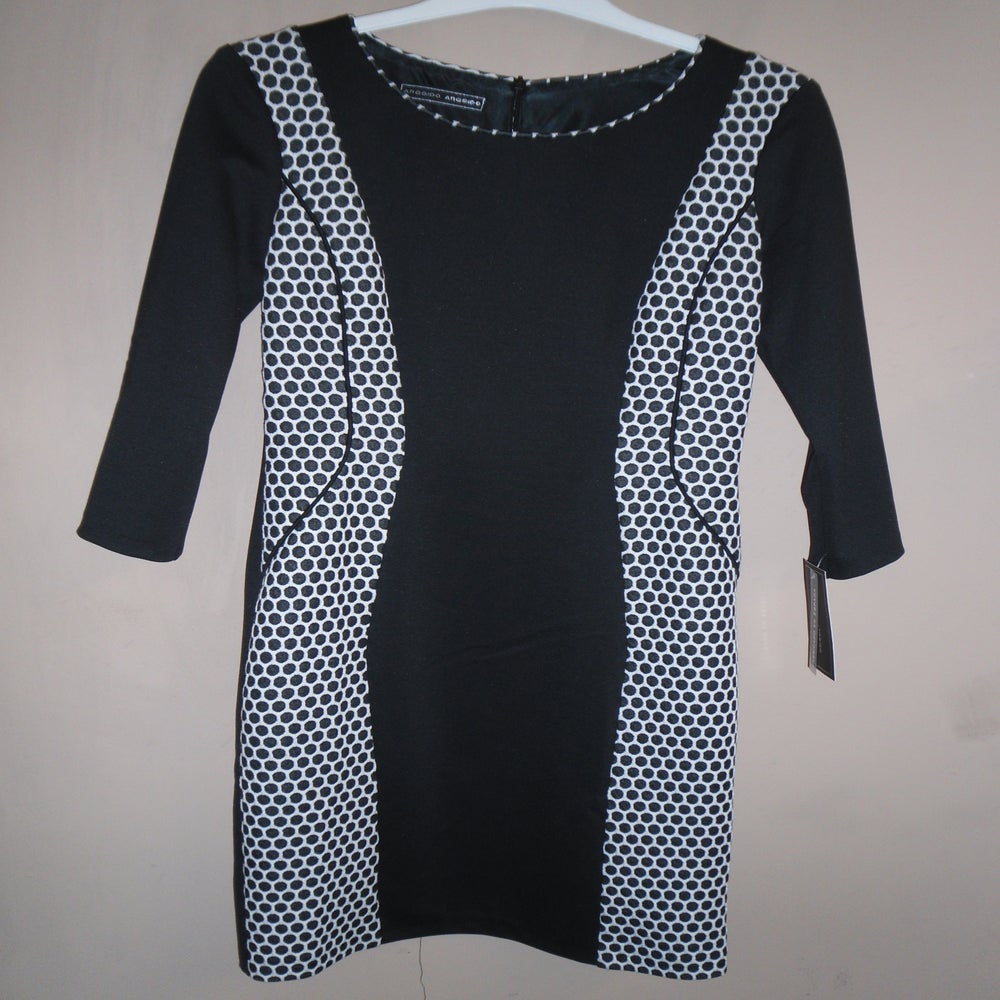 Arggido Black White Spot Dress Furlong Fashion