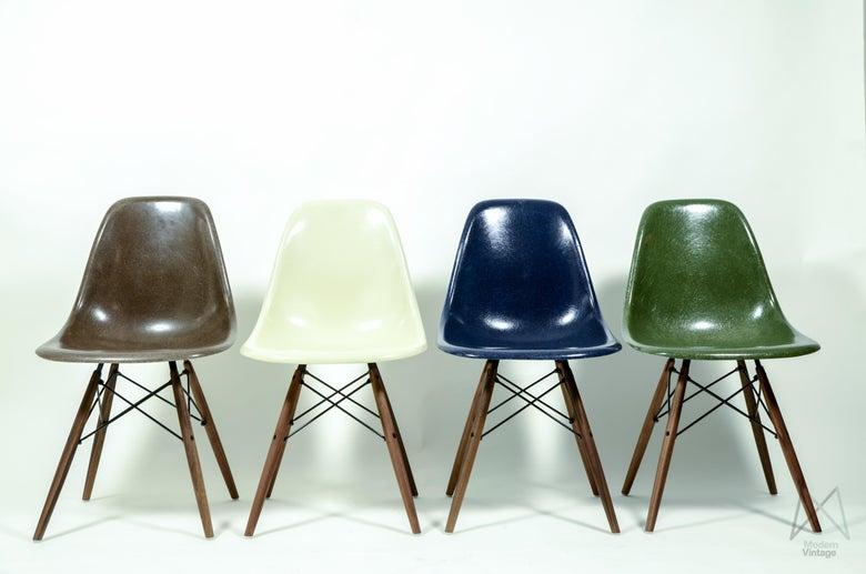 Image of Eames Original Herman Miller Fiberglass DSW Chair Different Colors