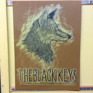 Image of the Black Keys Sep 28 Chicago Brown edition