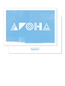 Image of Greeting Card - Aroha - Blue