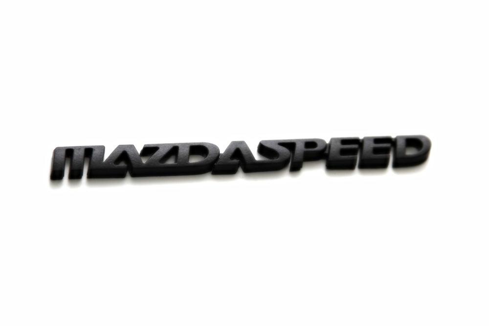Image of Mazda 3, 6, Miata MAZDASPEED JDM BLACKOUT Emblem