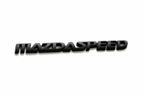 Image of Mazda 3, 6, Miata MAZDASPEED JDM BLACKOUT Emblem