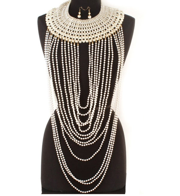 Image of Pearl White Beaded Necklace *Ships 10/24