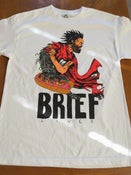 "Image of ""Akira Dog"" Full-Color on White T-Shirt"