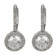 "Image of "" New "" Kara Ackerman <i> Talulah <i/> Faceted Stone Drop Earrings in White Gold"