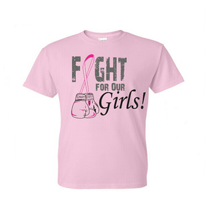 "Image of Pre-Order ""Fight For Our Girls!"" Breast Cancer Awareness Tee & Zip-up Uni-Sex Hoodie"